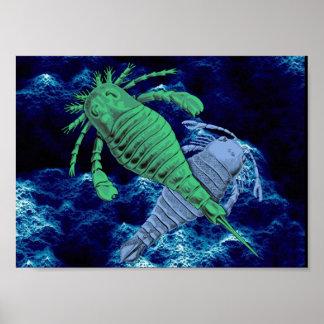 海蠍のプリント ポスター