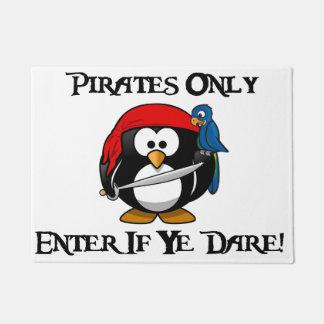 海賊だけ- Yeが敢えてしたら入って下さい! -ペンギンの海賊 ドアマット