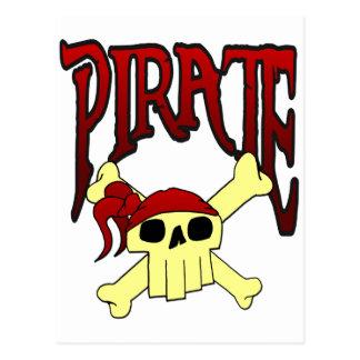 海賊どくろ印の漫画 ポストカード