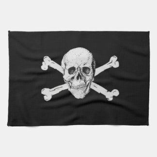 海賊どくろ印 キッチンタオル