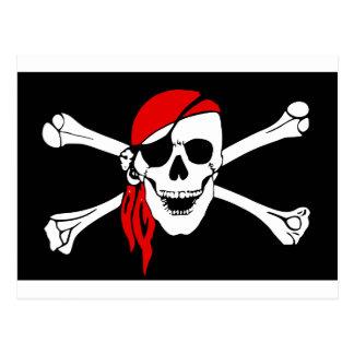 海賊どくろ印 ポストカード