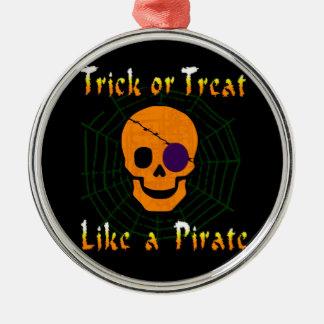 海賊のようなトリック・オア・トリート メタルオーナメント