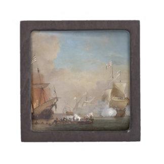 海賊は英国の海軍艦艇の絵画を攻撃します ギフトボックス