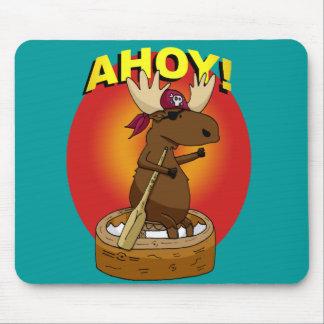 海賊アメリカヘラジカAhoy! マウスパッド