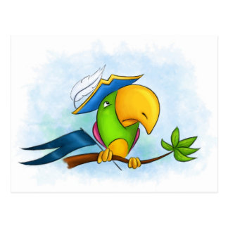 海賊オウム ポストカード