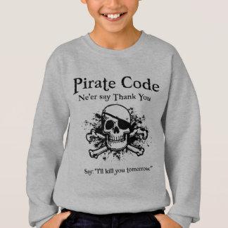 海賊コード: ありがとう スウェットシャツ