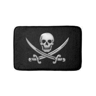海賊スカルおよび剣の骨が交差した図形(TLAPD) バスマット
