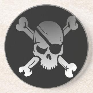 海賊スカルおよび十字の骨 コースター