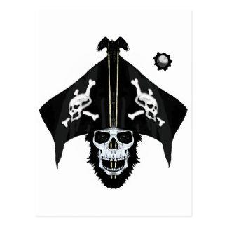 海賊スカルおよび十字の骨 ポストカード