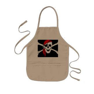 海賊スカルおよび十字の骨 子供用エプロン