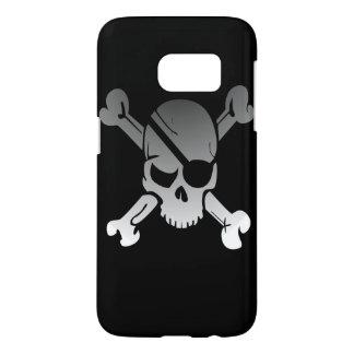 海賊スカルおよび十字の骨 SAMSUNG GALAXY S7 ケース