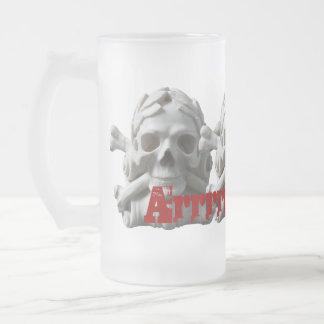 海賊スカルによって曇らされるマグ フロストグラスビールジョッキ