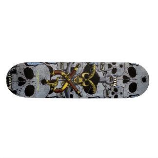 海賊スカルのカッコいいのスケートボードのデザイン スケボー