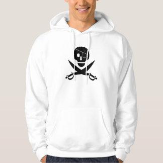 海賊スカルのフード付きスウェットシャツ パーカ