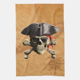 海賊スカル キッチンタオル