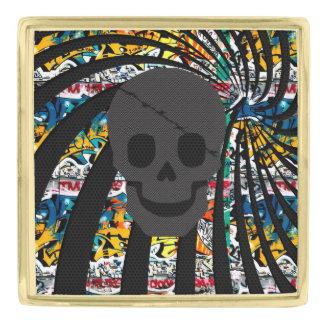 海賊スカル 金色 ラペルピン