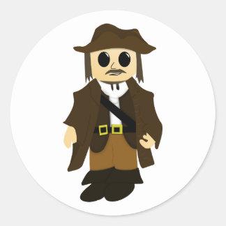 海賊ステッカー ラウンドシール