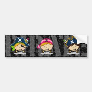 海賊バンパーステッカー バンパーステッカー