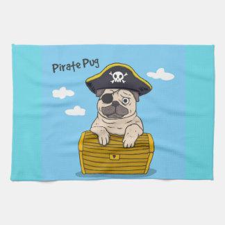 海賊パグ キッチンタオル