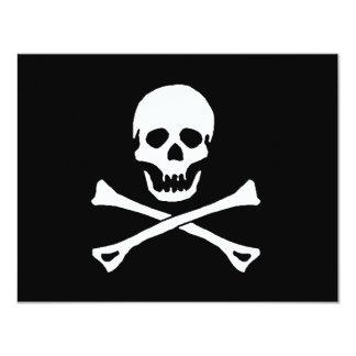海賊パーティーのテーマの海賊旗の旗の招待状 カード