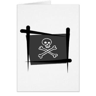 海賊ブラシの旗 カード