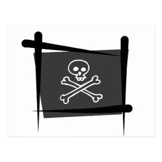 海賊ブラシの旗 ポストカード