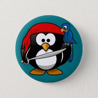 海賊ペンギンのオウム 5.7CM 丸型バッジ