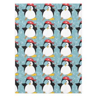 海賊ペンギンのグラフィックパターン テーブルクロス