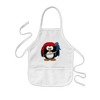 海賊ペンギン 子供用エプロン