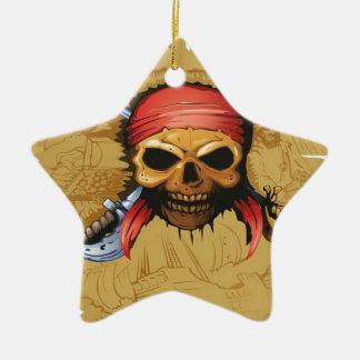 海賊主要なデザイン 陶器製星型オーナメント