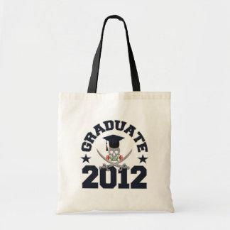 海賊卒業生のバッグ-スタイル及び色を選んで下さい トートバッグ