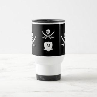海賊及びモノグラム トラベルマグ
