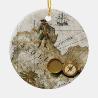 海賊地図のオーナメント セラミックオーナメント