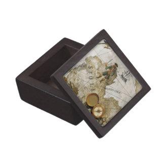 海賊地図の記念品箱 ギフトボックス