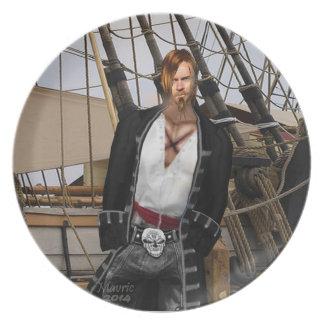 海賊大尉のメインセイルのプレート プレート