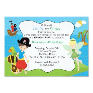 海賊妖精の妖精の子供の誕生日のパーティ カード