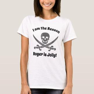 海賊旗とのおもしろいな海賊引用文 Tシャツ