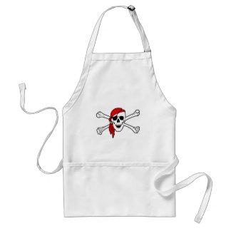 海賊旗のどくろ印の海賊旗 スタンダードエプロン