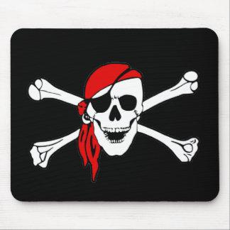 海賊旗のどくろ印の海賊旗 マウスパッド