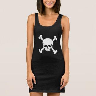 海賊旗のどくろ印 袖なしドレス