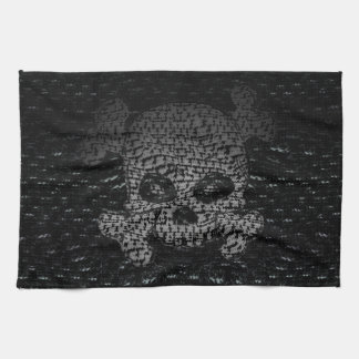 海賊旗のカスタム キッチンタオル