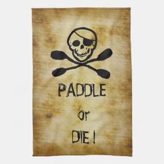 海賊旗のカヤックのかいはまたは死にます キッチンタオル