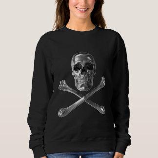 海賊旗のスカルのスエットシャツ スウェットシャツ