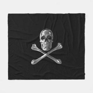 海賊旗のスカルのフリースブランケット フリースブランケット