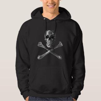 海賊旗のスカルのフード付きスウェットシャツ パーカ
