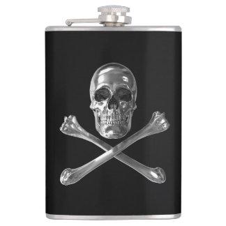 海賊旗のスカル8つのozのビニールの包まれたなフラスコ フラスク
