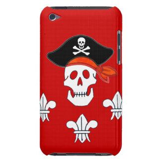 海賊旗のスカル、海賊帽子および3本のユリ Case-Mate iPod TOUCH ケース
