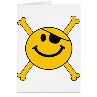 海賊旗のスマイリー カード