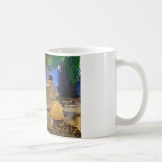 海賊旗のトラタンク コーヒーマグカップ