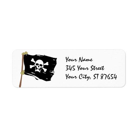 海賊旗のラベル 返信用宛名ラベル